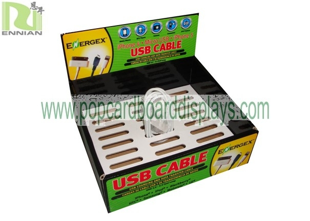 corrugated USB Cable and home charge Carton Box for retail