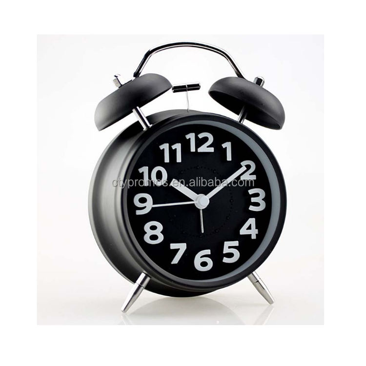 Metal Twin Bell Alarm Clock With Light - Buy Vintage Alarm Clock,Retro  Metal Alarm Clock,Twin Bell Alarm Clock Product on Alibaba com