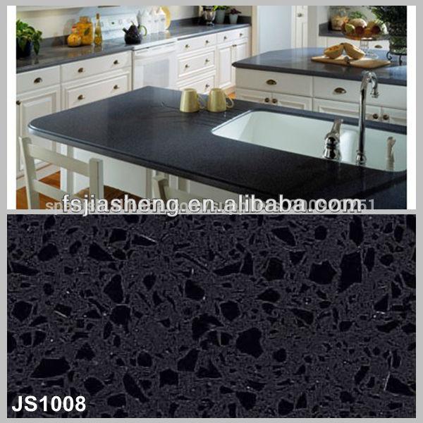 negro onyx piedra de cuarzo artificial encimeras de azulejos en ...