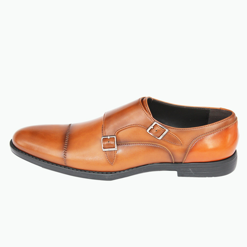 for formal men shoes leather with strap genuine branded buckle German comfort q4wzxUA