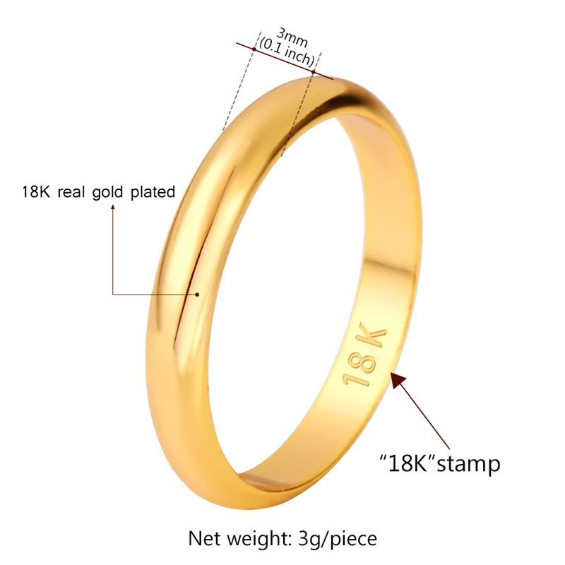 467731b2cb3 Wholesale Gold Rings With 18K Stamp Quality Real Gold Plated Women ...