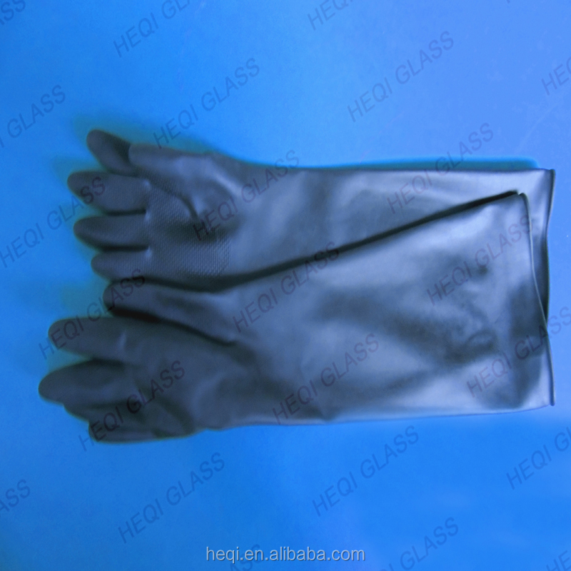 Long Sleeves Glove Anti acid Latex industrial gloves