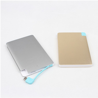 Slim Flat Mobile Phone 2500mAh Power Bank For Corporate Gift