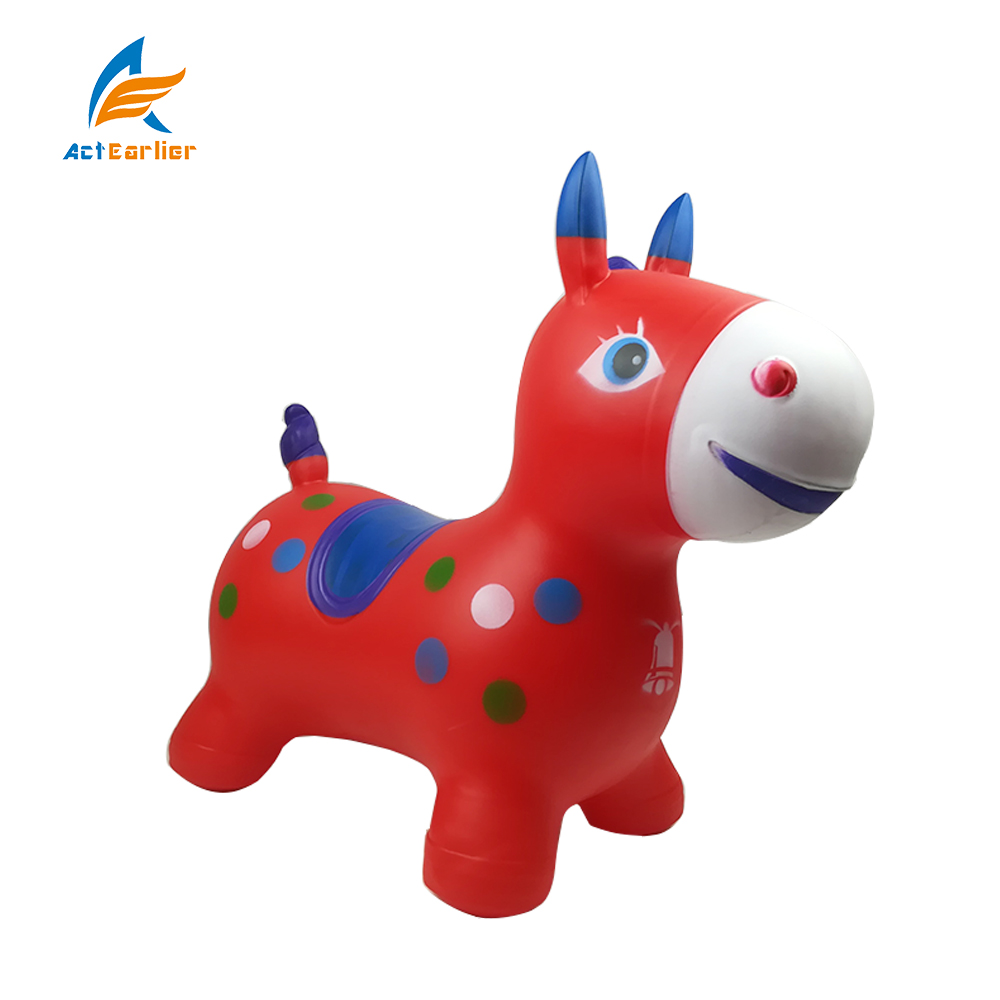 ActEarlier Kids games special gift ride on donkey custom Inflatable bouncy animal soft jumps animals toys for year 3+