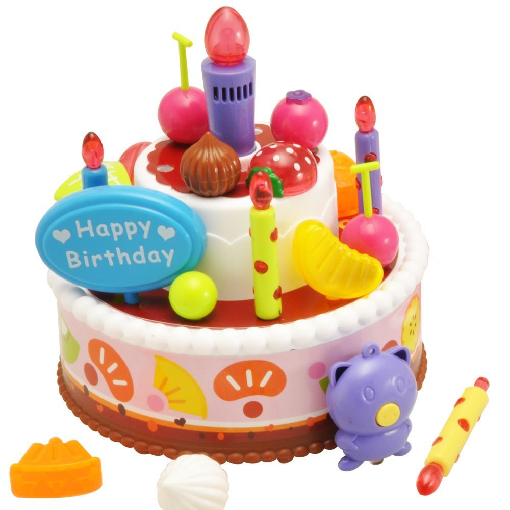 Get Quotations Fivestar Toys Singing Birthday CakeDouble Layer Musical Toy For Kids