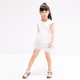 2017 YDM Hot Sale Baby Girl Party Children Frocks New Model Kid Clothes Sleeveless White Fairy Dress