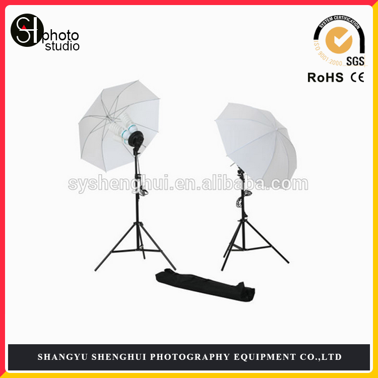 Photography Continuous Four Head Light Umbrella Kit