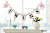 Twins Banner Baby Shower Garland Sign Photo Props Kids Birthday Party Decoration