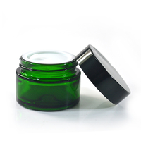 high quality green 15g 30g 50g 2 oz cream cosmetic glass jar with lid
