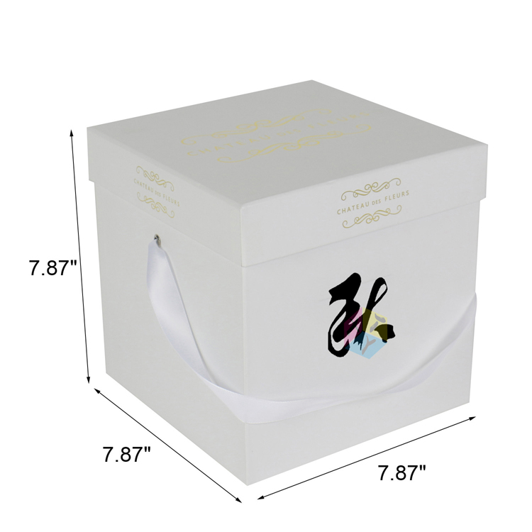 rectangular cardboard gift shipping flower delivery box