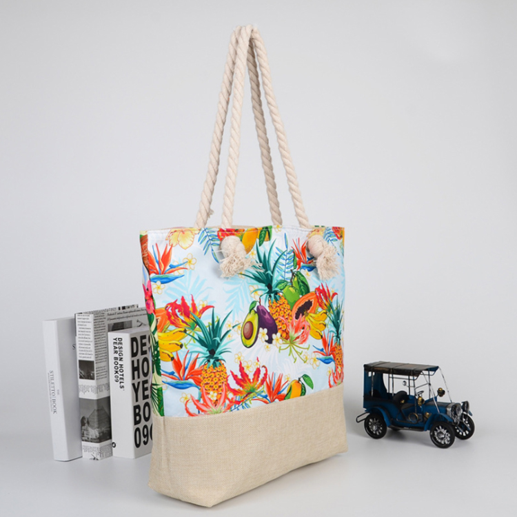 Customized eco friendly outdoor women beach bag