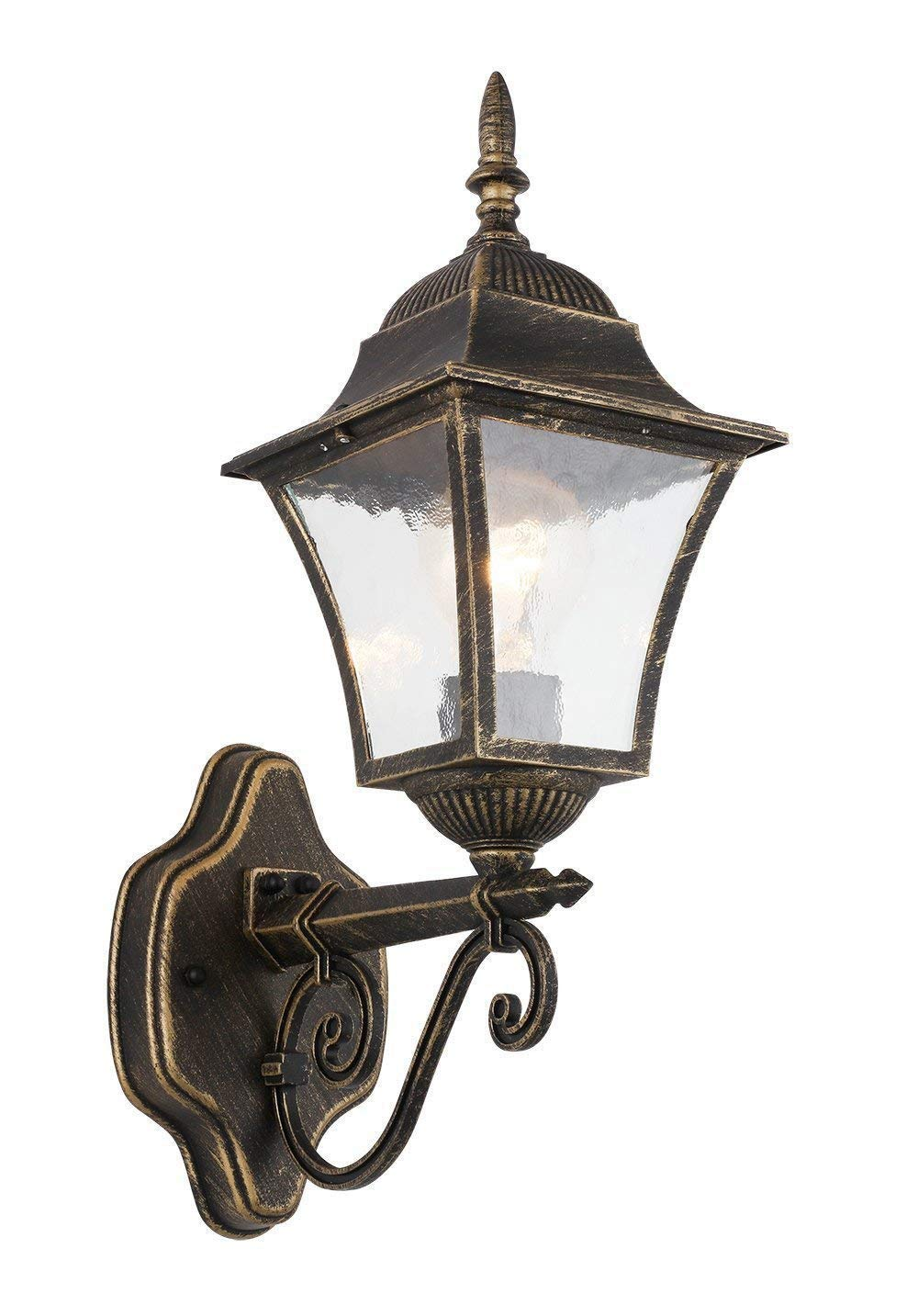 RUNNLY 1-Light Outdoor Wall Porch Lantern Sconce Light, Oil Rubbed Bronze Black