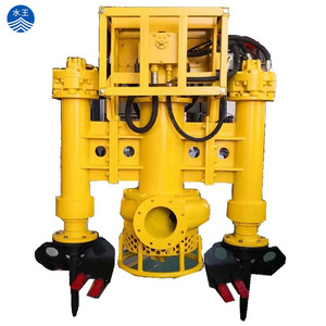 hydraulic submersible sand dredging slurry pump with agitator
