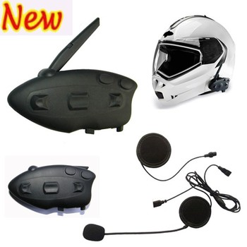 New Arrival Hottest Motorcycle Helmet Bluetooth Interphones 100M Intercom Bluetooth FM Radio MP3 Mp4 Wholesale