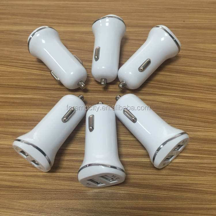 low price wholesale fashion dual USB LED car charger 5V 2.1A