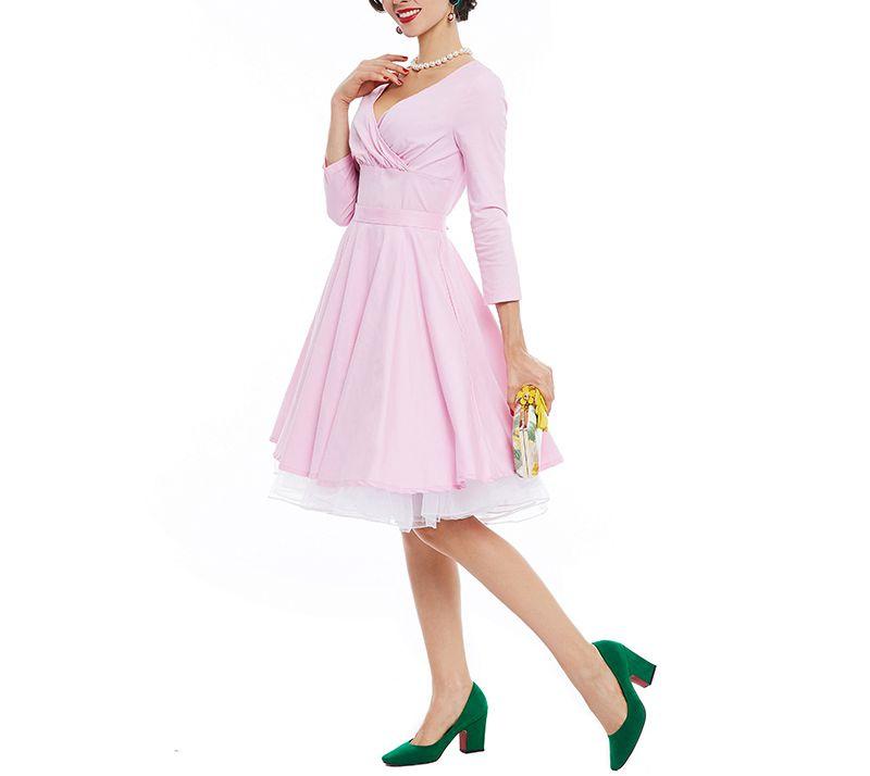 Lujo mujeres pin up sexy Pink diseñador 2017 verano femenino Cordón ...