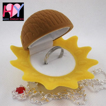 Wedding sunflower shape decorative trinket box for gifts