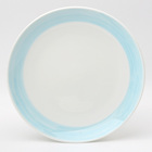 11 Inch Round Blue Hand Painted Custom Design Ceramic Stoneware Plates Dishes For Dinnerware Tableware Service