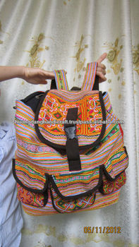 Embroidery Backpack For Travel -100% Handmade From Vietnam-Best Products  For Fashion bd051f4ede479