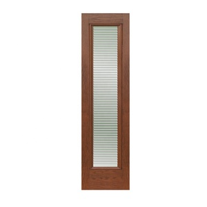 Brand New Flush Oak White Wooden Grain Single Louvre Doors House With Low Price