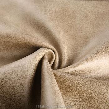 Por Polyester Microfiber Sofa Fabric With Imitate Cotton Velvet