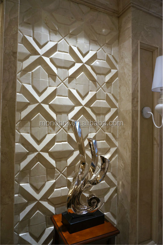 Italian Design Cnc Stone Engraving Interior 3d Marble Wall