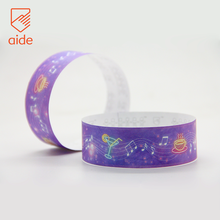 AIDE High Quality ISO9001 Certificate Full Color Printing Tyvek Wristbands