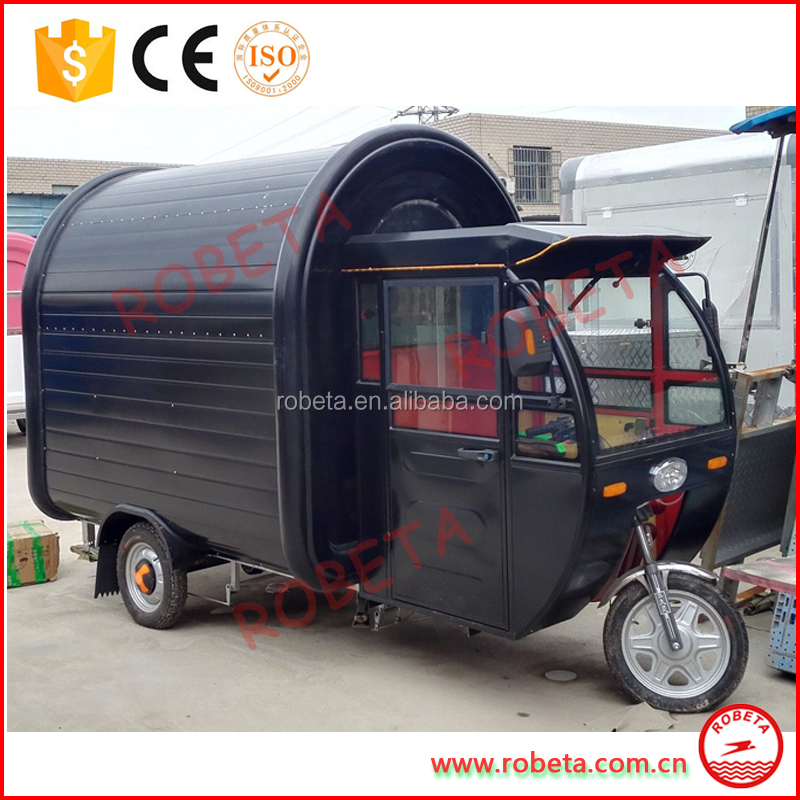 Food Tricycle Cart Van with cab/Mobile Used Food catering trailers