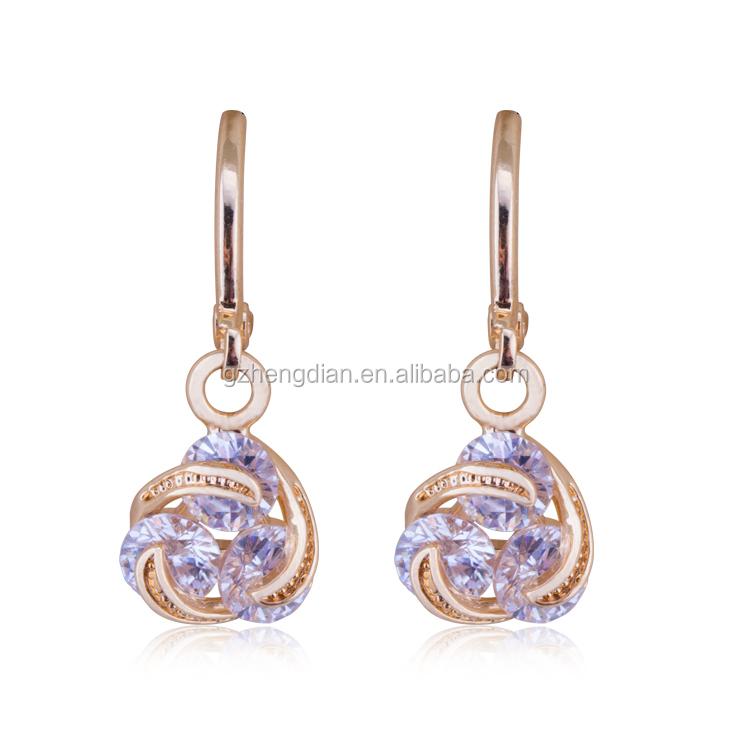 bf65080c916d8 Unique Wholesale Long Hanging Colorful Zircon Crystal Drop Earrings Design  - Buy Drop Earrings,Crystal Earring,Round Earring Designs Product on ...