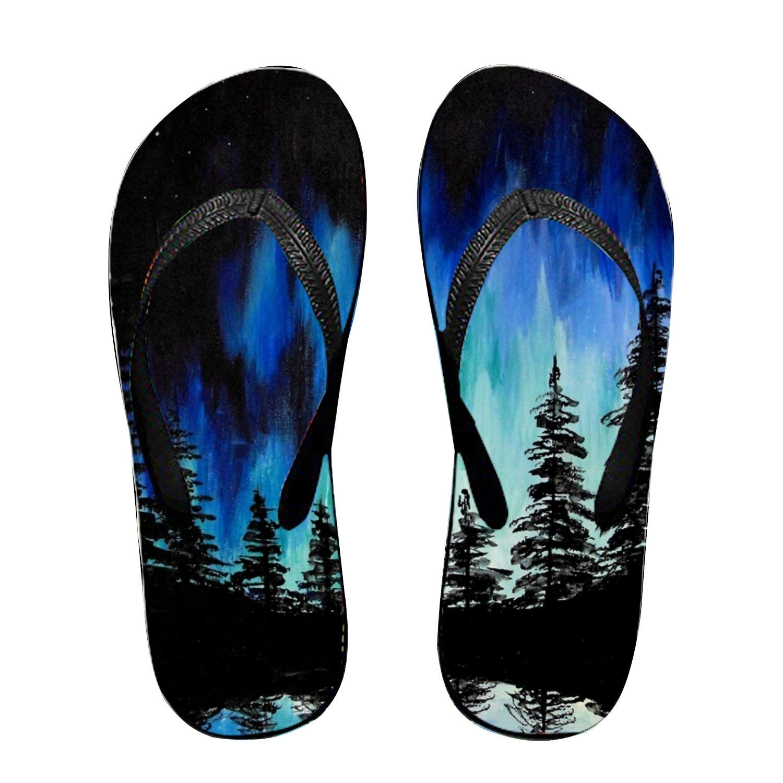 Ltgyth Floral Pattern Unisex Flip Flops Sandal for Women/Men Cool Beach Slipper