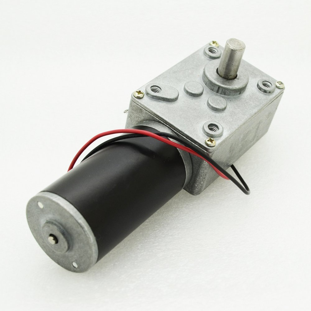 1pc GW31ZY DC24V 100RPM 0.25A Worm Reducer DC Gear motor with Tail Shaft for Encoder