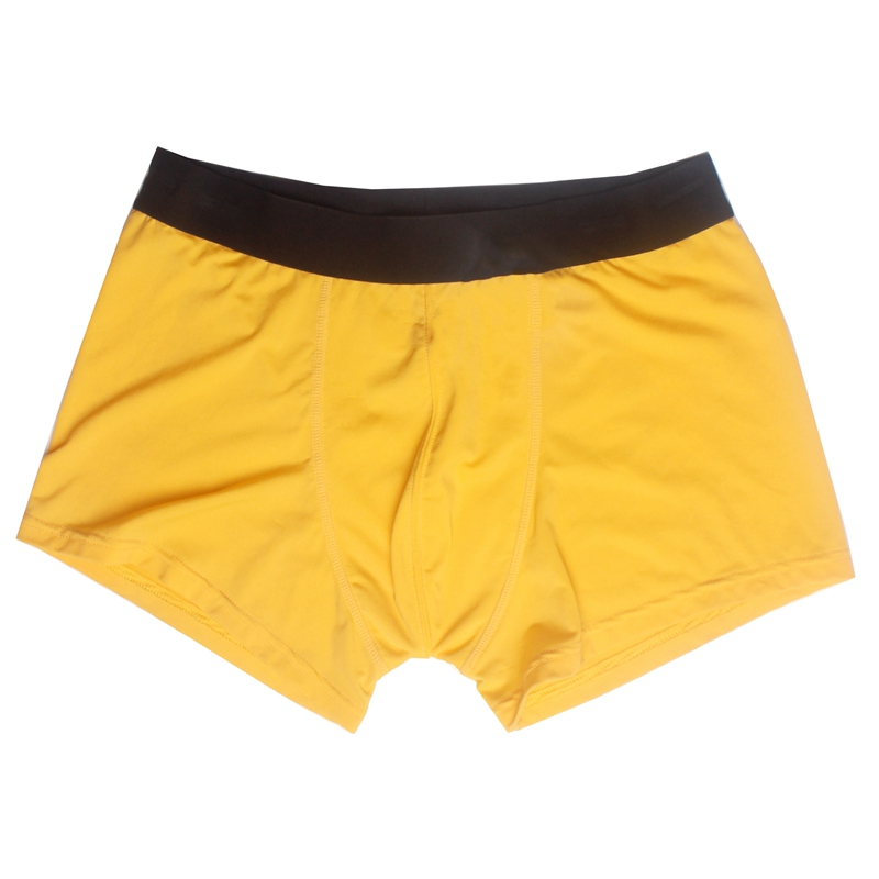 Sexy Man Underwear Brief Wholesale Custom Boxer Shorts Yellow Boxer