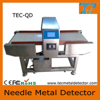 Textile and garment industrial conveyor belt broken needle metal detector