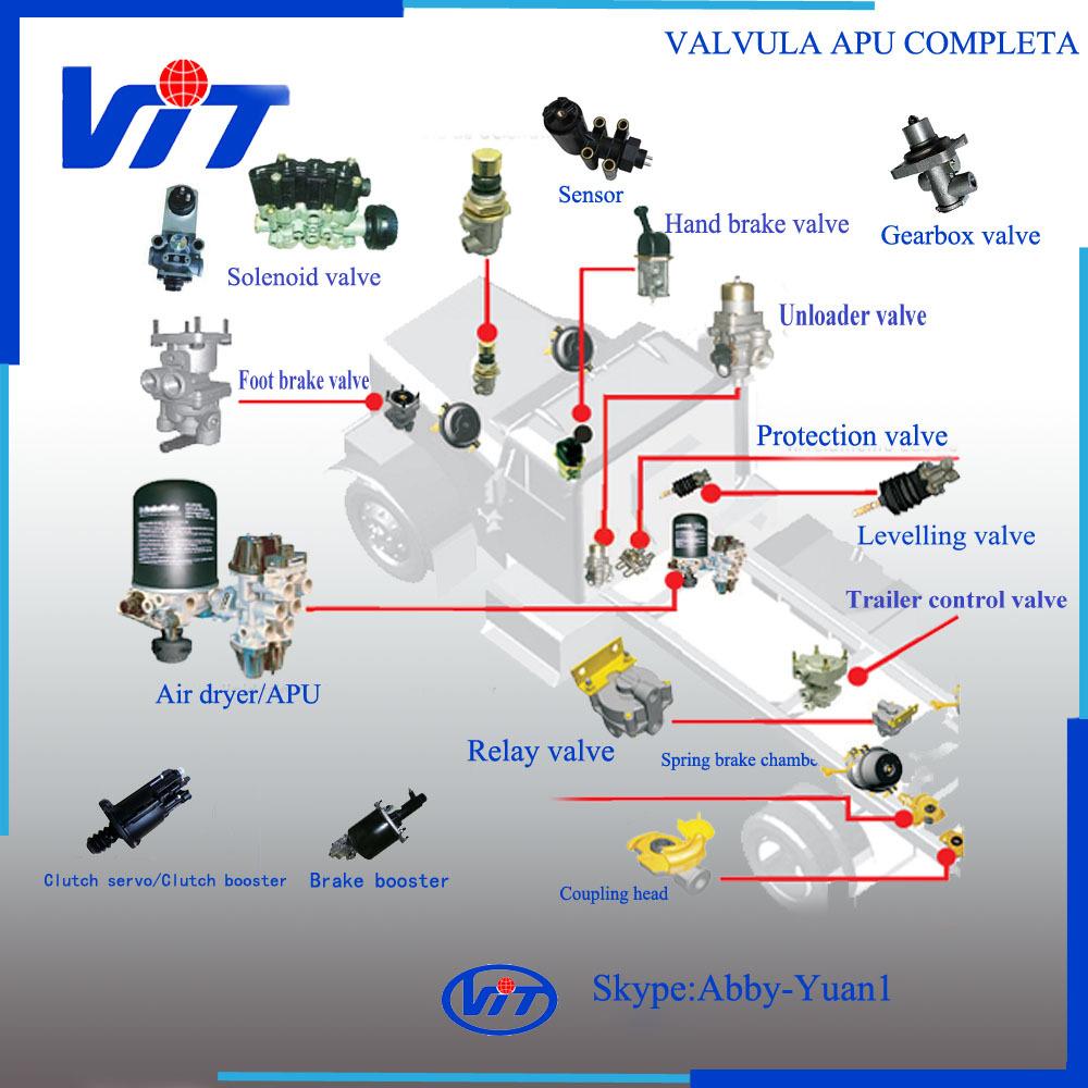 Wabco Truck Air Brake Relay Valve 4730170300 Wiring Diagram