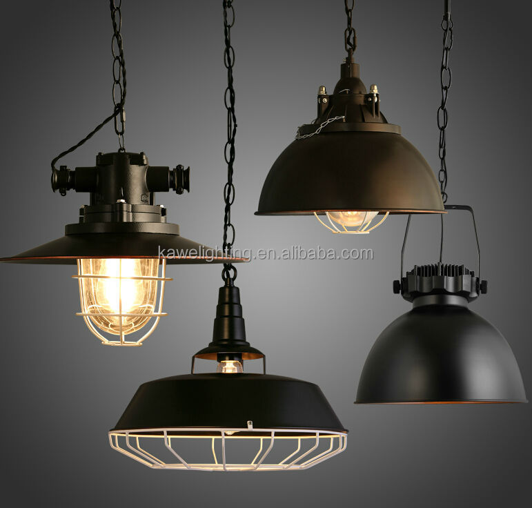 Industrial Lighting Restaurant: Pendant Light Rural Industrial Loft Style Personality