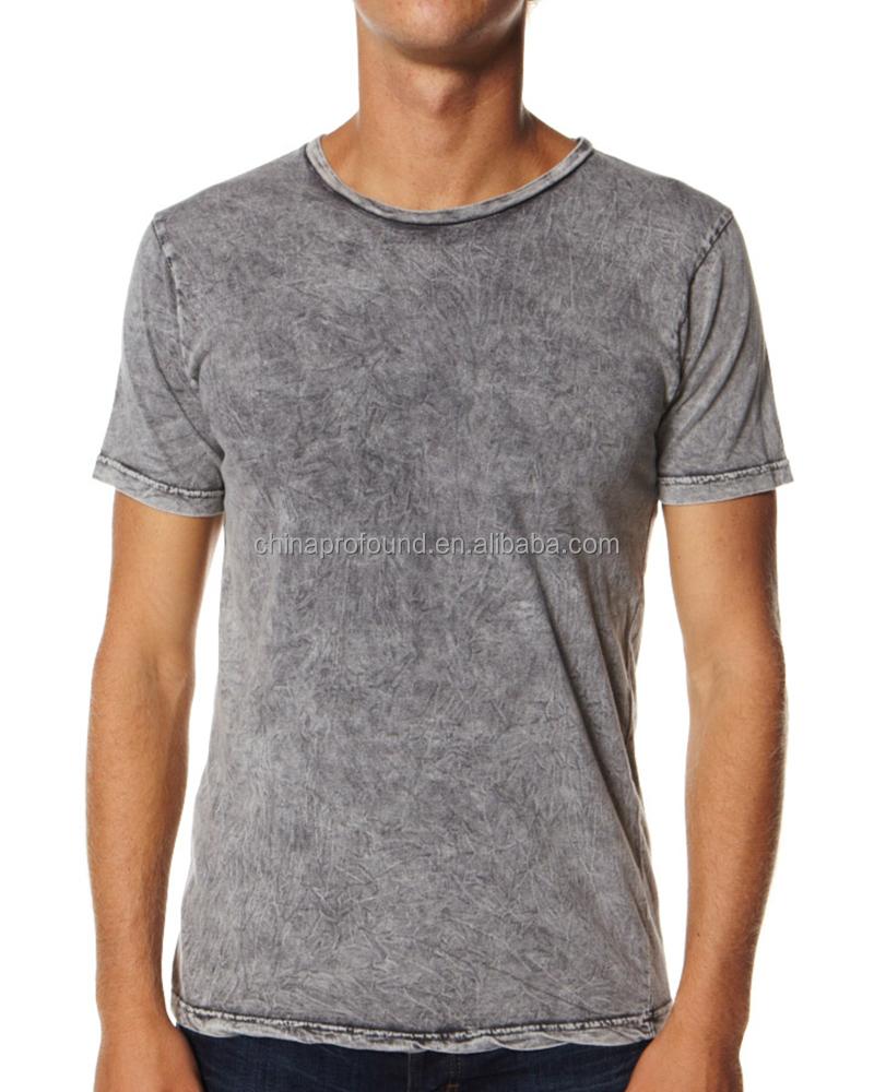 Acid washed t shirt mens acid washed blank t shirt for Custom acid wash t shirts