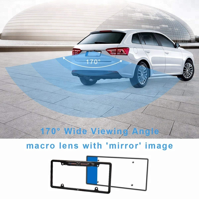 USA License Plate Car Reverse Camera 170 Angel Viewing
