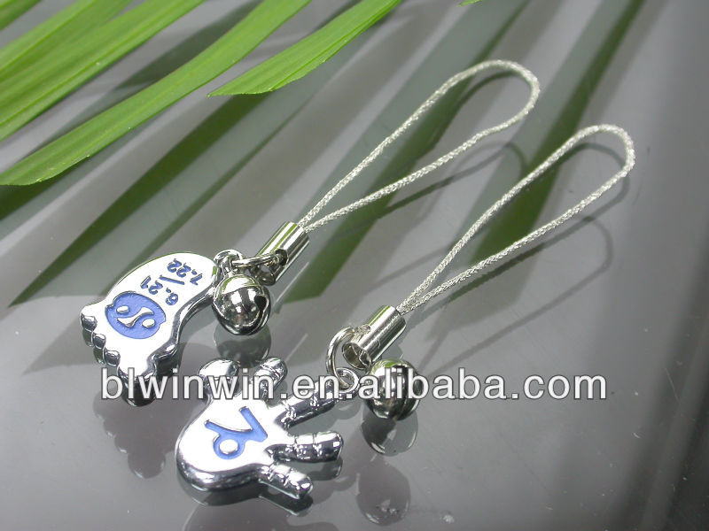 couple phone charm with small bells