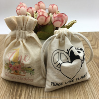 Personalized Drawstring Cotton Muslin Bag for Jewelry