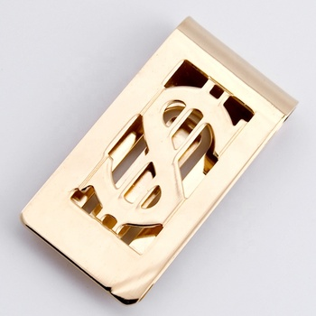 Hot sell blank money clip laser logo embossed logo metal money clip