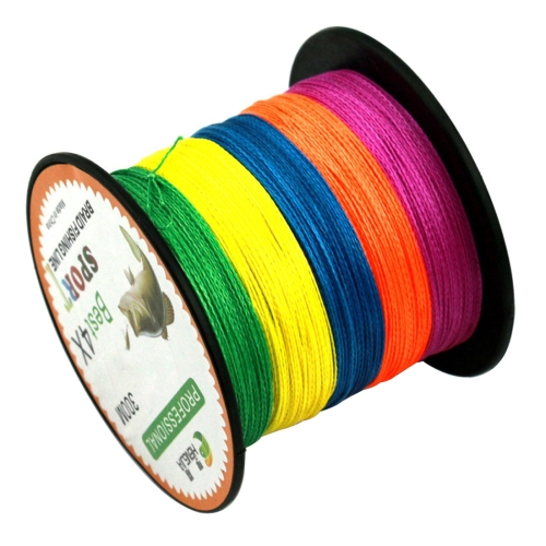 Extra Strong 4 Shares Braided PE Fishing Line Kite Line, Colorful 7.0# 0.45mm 70LB 31.7kg Tension 300m