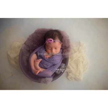 Newborn Bubble Wrap Baby Photography Prop Swaddle Cheesecloth Wrap