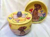 Golden Retriever Dog Bowl, 10