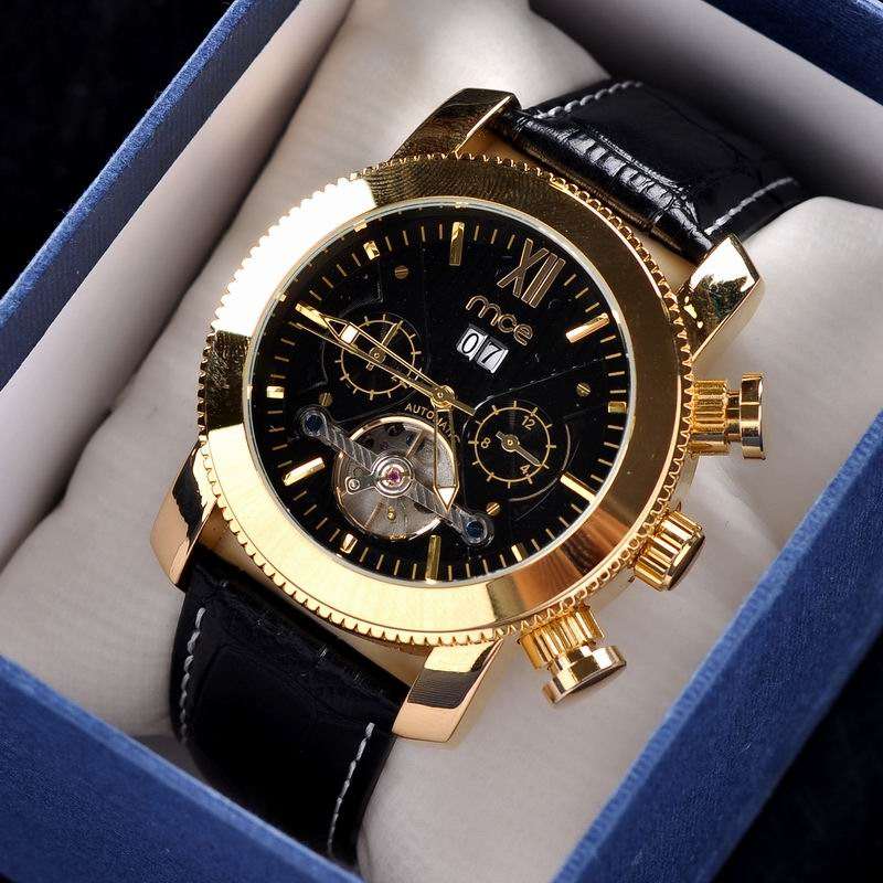 Golden classic chronographic watches waterproof men hands watch for sale
