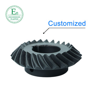 Top quality custom size nylon tooth plastic straight spiral bevel gear