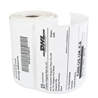 Free Sample Zebra Dymo Barcode Printing 4x6 shipping Packing Direct Thermal Transfer Label Roll Self Adhesive Custom Stickers