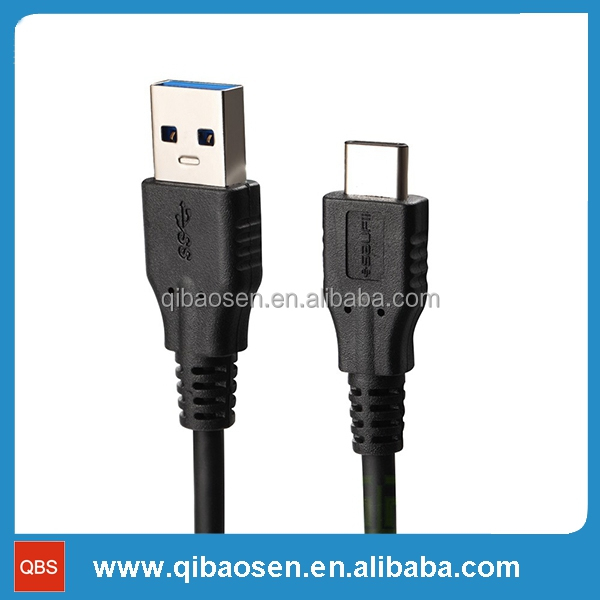Manufacturing standard USB male to USBC 3.1 type C adapter cable for data transfer and charging for macbook and devices with typ