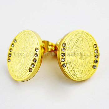 christian virgin mary earrings cheap fine jewelry gifts wholesale