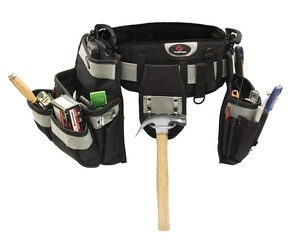 Melo Tough Electrician's Belt & Bag Combo - Heavy Duty Electricians Tool Belt Designed for Maximum Comfort & Durability - Ideal