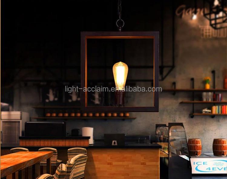 Eisen Amerikanischer Kronleuchter Ein Quadrat Industrie Kronleuchter Kleine Kronleuchter  Für Schlafzimmer Esszimmer Deckenleuchten